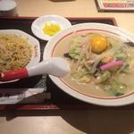 ちゃんぽん+半チャーハンセット(中央軒 天神橋4丁目店 )