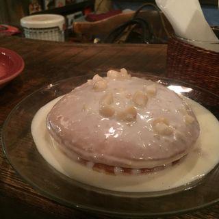 マカダミアミルクソースがけパンケーキ(juen (長屋カフェ))