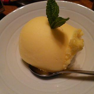 柚子シャーベット(日本料理 蛇の目寿司)