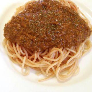 自家製ミートソーススパゲティ(おるがん )