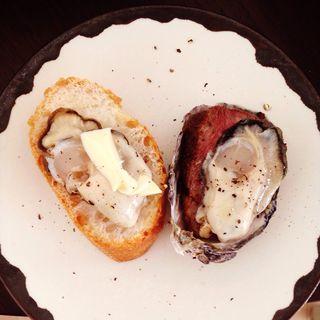 牡蠣パンバター(日曜かきフライヤーズ)