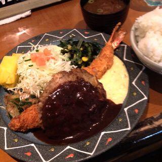 ジャーバーグ定食アンドビール(キッチン欧味 (キッチンオウミ))