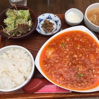 エビチリ定食(シャンニーカフェ (Xiang ni cafe))