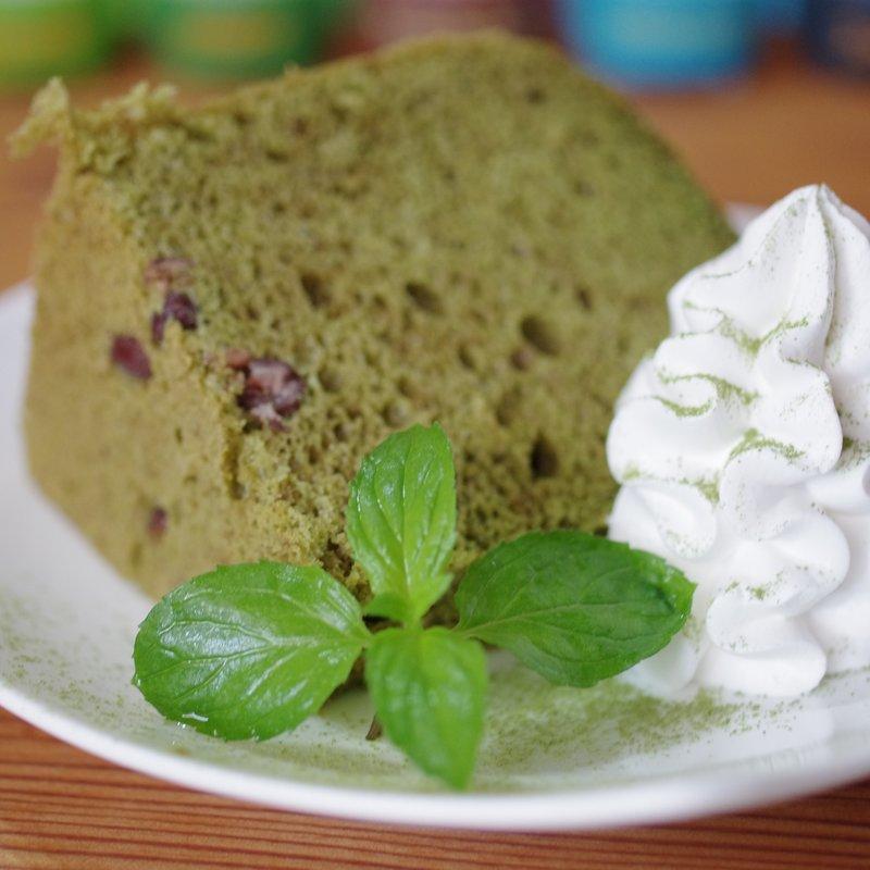 抹茶小豆シフォンケーキ