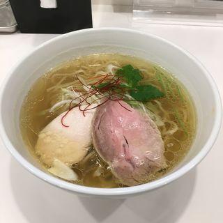 鶏出汁あらめん  雫(麺画廊 英)