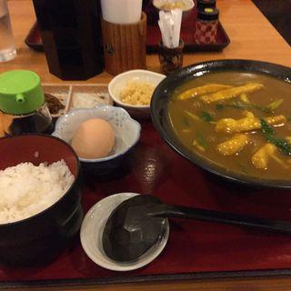 カレーうどん定食(三佳屋 (みよしや))