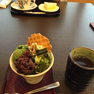 抹茶ミニパフェ(かごの屋 森小路インター東店 )