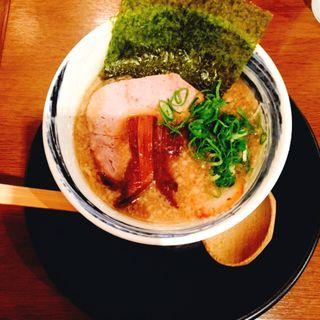 醤油麺コクにごり ミニ(信州松本 麺肴ひづき 湯きりや )