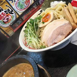 鶏と鯵煮干しのつけ麺 特盛(竹本商店 北上店 )