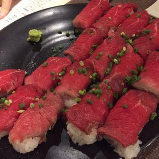 肉寿司(炭火焼肉 房家 本郷店)