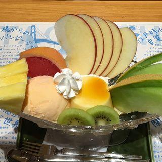 プリンアラモード(茨城マルシェ Restaurant&Bar)