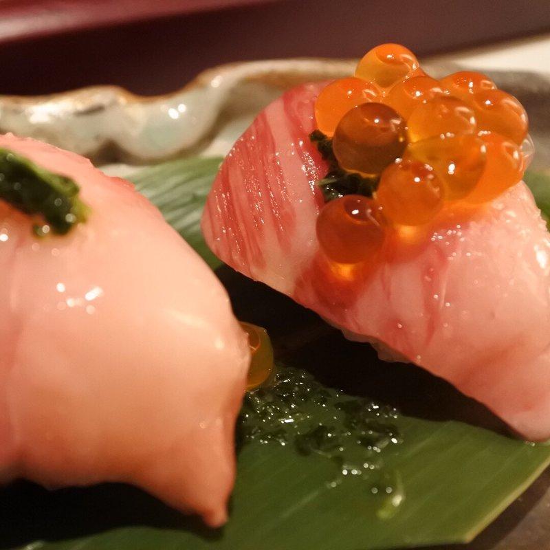 尾崎牛 炙り鮨