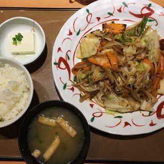 たっぷり野菜の肉野菜炒め定食(やよい軒 稲荷町店 )