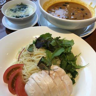 ココナッツミルクカレースープのつけ麺(東京ドームホテル札幌 中国料理 緑花)