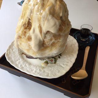 みたらし団子のかき氷(お茶と酒 たすき )