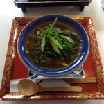 九条ねぎと焼厚揚げの茶出汁あんかけ丼(お茶と酒 たすき )