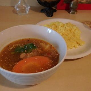 ポーク角煮のスープカレー(ハーフ)(スープカレー syukur 新丸子店)