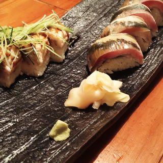 お寿司 (穴子と鯵)(魚哲)