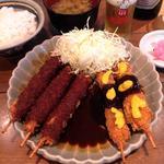 ロース串カツ定食