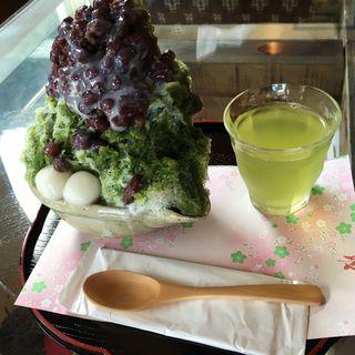 緑茶かき氷(茶工房・かはだ )