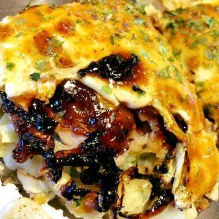 ぎゅんた焼「牛すじイカ焼」 新鮮野菜セット(神戸六甲道・ぎゅんた 丸の内店 )