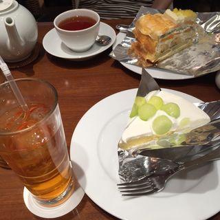 メロンのショートケーキ(ハーブス 大丸梅田店 )
