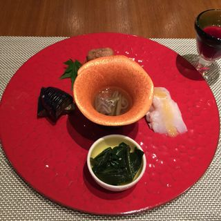 前菜盛り合わせ(コース)(かみのやま温泉 葉山館 翠葉亭 )