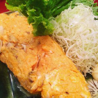 松茸のオムレツ(かぶら )