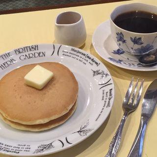 ホットケーキセット(喫茶サントス )
