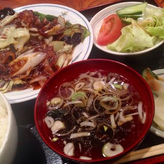 肉野菜炒め定食(どんた )