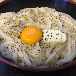 釜バターうどん(大)(手打十段 うどんバカ一代)