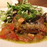 野菜たっぷりソースの白身魚