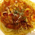 海の幸のスパゲッティ