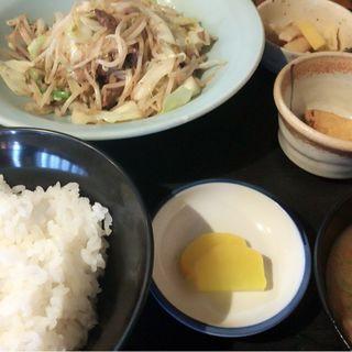 ロース野菜炒め定食(葉牡丹)