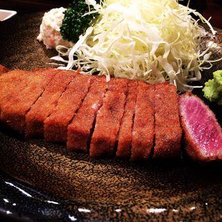 牛カツ麦飯とろろセット(牛かつ もと村 新宿南口店 )
