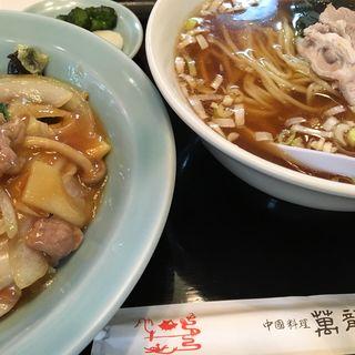 中華丼とラーメンセット(萬龍飯店 葛西店 )