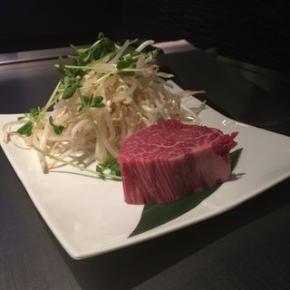 A5等級黒毛和牛ステーキ フィレ 100g(鉄板DINING集 栄店 (シュウ))