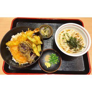 天丼セット(能古うどん イオン大野城ショッピングセンター店)