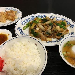 餃子/肉ニンニクねぎ炒め/小ライス(青島 (チンタオ))