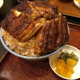 鰻丼特上のご飯多め(鰻はし家)