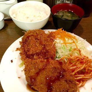 メンチ定食(キッチン大正軒)