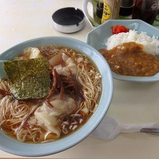 ワンタン麺+半カレー(大塚支店 )