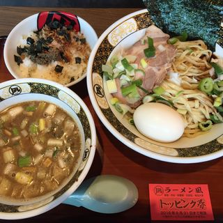 特製煮干しつけ麺漁師めしセット(ラーメン 凪 秋葉原UDX店 (ラーメン ナギ))