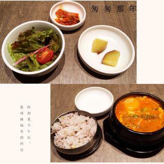 6種の野菜のスンデゥブチゲ定食(KOREAN KITCHEN Pojagi)