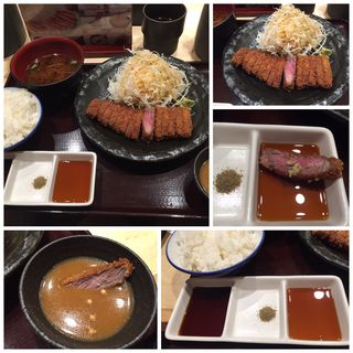 牛ロースカツ膳(並)(牛カツ専門店 京都勝牛 京都駅前 )