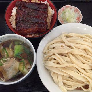 鰻丼と肉汁うどん(駕籠休み (かごやすみ))