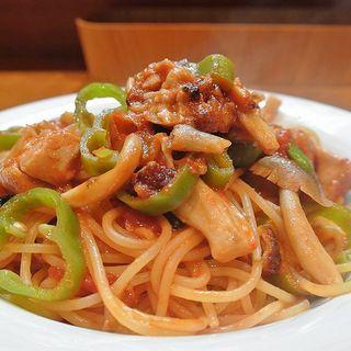 淡路鶏ももときのこスパゲティー(TRATTORIA mocchi (トラットリアモッチ))