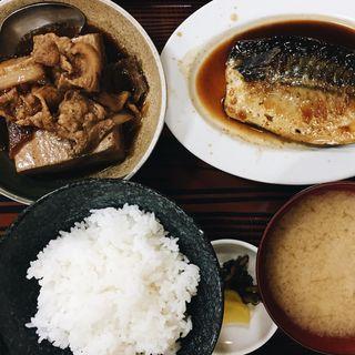 さば煮定食 と 肉豆腐(長野屋食堂 )