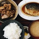 さば煮定食 と 肉豆腐