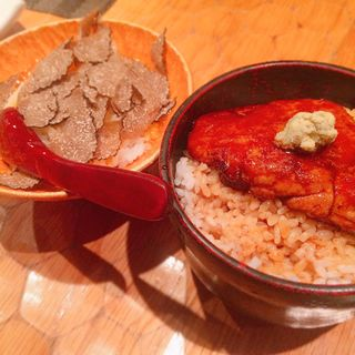 トリュフたまごかけご飯とフォアグラご飯のセット(十番右京 )